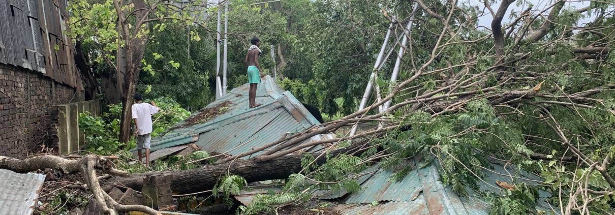Post Cyclone Amphan destruction